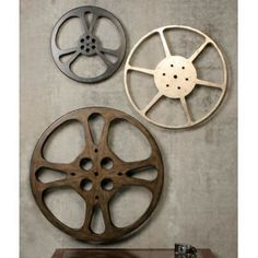 Film Reel Wall Art For Our Movie Room