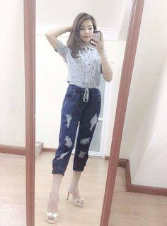 Quần baggy jeans các kiểu Giá  200k Size   S.M.L Ảnh tự chụp 0168 433 6383