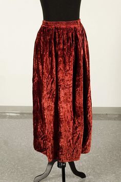 Vintage 90s crushed velvet maxi skirt - size L to XXL by piscesvintage, $28.00