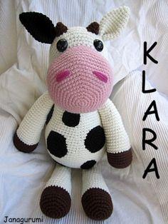 Crochet Tutorials – Big Cow Klara Amigurumi Crochet Pattern – a unique product by Janagurumi on DaWanda