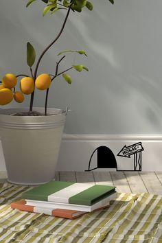 Vente Ambiance l'esprit déco / 17010 / Design et city / Sticker trou de souris et panneau Noir et blanc