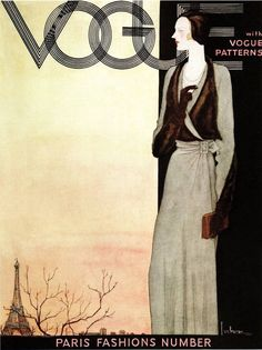 ART DECO Vogue Magazine Cover Oct.1st 1930.....Quality Bookprint #Realism
