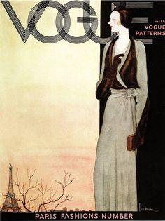 ART DECO Vogue Magazine Cover Oct.1st 1930.....Quality Bookprint #Realism