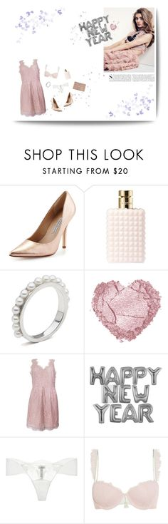 """""""NEW YEAR'S COMING"""" by ironono ❤ liked on Polyvore featuring Charles David, Valentino, Joie, La Perla, Heidi Klum Intimates, Kershaw, StreetStyle, NewYears, PartyWear and BloggerStyle"""