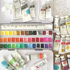 Building my gouache palette for @dispatchfromla's online c… | Flickr