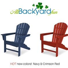 A Polywood South Beach Adirondack chair is perfect for kicking back and relaxing in the sunshine. Add this Adirondack plastic chair to your backyard or patio setup today! Green Furniture, Furniture Making, Deck Chairs, Outdoor Chairs, Recycled Plastic Adirondack Chairs, Florida Home, Rockers, Outdoor Rooms, South Beach
