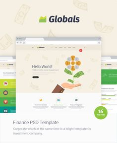 Description Globals is a multipurpose PSD Template for your projects. Advantage of this project that it includes 5 con...