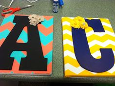 Caitiebug Love: How Incorporate Chevron Into Your Dorm! Cute ideas for decorating a dorm room with chevron patterns!