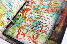 A new grunge book, part 2, gelli printing to make a special date book.