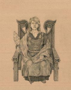 Norse-Goddess Frigga Print by JKFableArt on Etsy