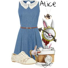Alice - Disney's Alice in Wonderland by rubytyra on Polyvore featuring Wet Seal, By Emily, Kate Spade, Hipster, disney, aliceinwonderland and disneybound