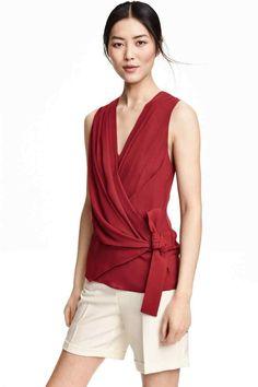 Blusa de chiffon sem mangas | H&M