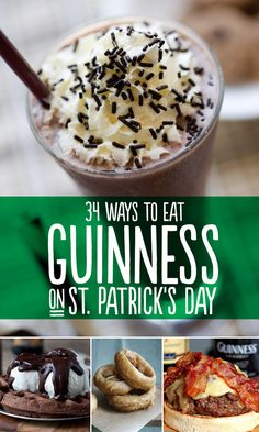 34 Ways To Eat Guinness On St. Patrick's Day Going to make march meals Guinness themed at least once a week