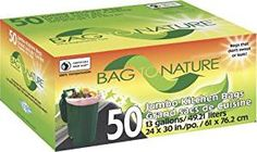 Compostable Tall Kitchen Bags- 50 Count Review Compost Bags, Lactic Acid, Plastic Plates, Cleaning Supplies, Biodegradable Products, Personal Care, Count, Kitchen, Kitchens