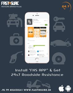 Fast N Sure is the best Road Assistance Services, Towing Services, Car Repair Services & Vehicle Breakdown Services Providing Company in Ahmedabad, Gujarat & Jodhpur, Rajasthan Car Repair Service, Jodhpur, Mobile App, Automobile Repair Shop, Mobile Applications