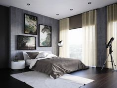 Silent Gliss Metropole and roller blinds combine for the perfect stylish combination for this bedroom.