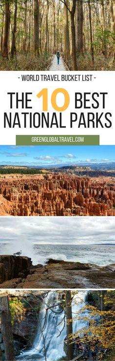 Look at our complete list of national parks for your world travel bucket list | USA | Maine | Utah | Dakota | Texas | Florida | Colorado | New Mexico | California | Carolina | Oregon | Ohio | Nevada | Alaska | Montana | Wyoming | North America | Wildlife