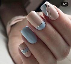 Nail Art Designs 💅 - Cute nails, Nail art designs and Pretty nails. Pretty Nail Art, Beautiful Nail Art, Gorgeous Nails, Elegant Nail Art, Elegant Nail Designs, Amazing Nails, Cute Spring Nails, Summer Nails, Summer Nail Art