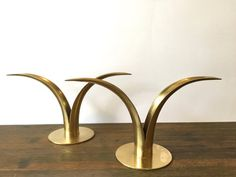 Gorgeous Mid Century Pair of Brass Lily by VintageParamour on Etsy