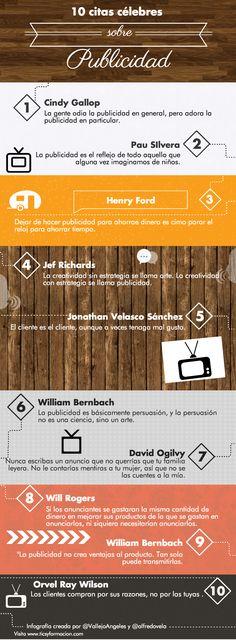 10 citas célebres sobre Publicidad. #infografia