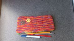 CIJ Free shipping felted pencil case back to by FeltedByRikke, $21.00