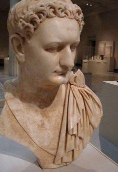 Emperor Titus Flavius Domitianus Marble Portrait bust, Roman,from the island of Paros in the Aegean Sea, 90 BCE Roman Sculpture, Sculpture Art, Sculptures, Roman History, Art History, Ancient Rome, Ancient History, Carthage, Roman Characters