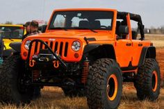 I'd totally drive this Orange Jeep Wrangler. Perfect for a Giants fan! Cj Jeep, Jeep Cars, Jeep 4x4, Jeep Truck, Orange Jeep Wrangler, Jeep Wrangler Jk, Jeep Wrangler Unlimited, Badass Jeep, Cool Jeeps