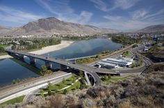 Photo about The city of Kamloops with Thompson River. Image of highway, city, sunny - 19955655 Magento Design, Powell River, Western Canada, O Canada, British Columbia, 6 Years, Adventure Travel, City, Places