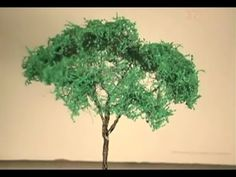 Aprenda vegetação em miniaturas com árvores de palha de aço | ARTESANATO NA REDE