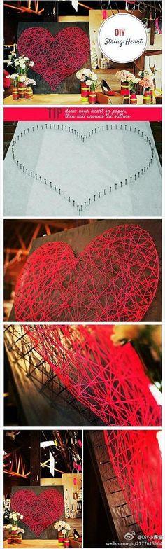 DIY decoração com coração