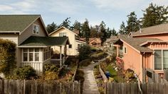 Article about Creating Pocket Neighborhoods with links.  (this is Umatilla Hill)  my Opin:  First, bulldoze the suburbs. Don't build these again. I'm serious. Then build pocket neighborhoods closer to the city. If you must, get a giant and hug the city until everything is nice and tightly pulled together. Repeat when necessary.