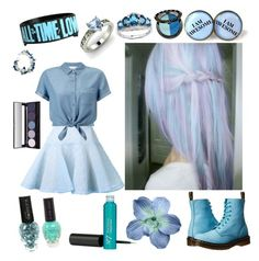 """""""Blue"""" by headphones-girl ❤ liked on Polyvore featuring Dr. Martens, Sephora Collection, Malaika, Alex Perry, Diamondere, Miss Selfridge and PAM"""
