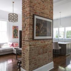 Image result for red brick indoor pillars