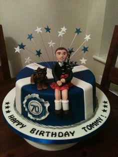 Scottish themed cake Girl Cakes, Cake Girls, Scottish Recipes, Cakes For Men, Specialty Cakes, Birthday Party Themes, Birthday Cakes, Piece Of Cakes, Fancy Cakes