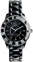 Christian Dior Women's CD1235E0C001 Black Eight Analog Display Swiss Automatic Black Watch