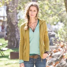 """Jumbo cables add lush texture to our zip front cardigan. Mid-weight organic cotton makes it a pivotal layering piece from now into spring. Hand wash. Imported. Exclusive. Sizes XS (2), S (4 to 6), M (8 to 10), L (12 to 14), XL (16). Approx. 24-1/2""""L."""