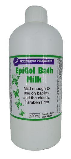 SPRINGBOK EPIGOL BATH MILK 400ML Milk Bath, Pharmacy, Shampoo, Personal Care, Bottle, Self Care, Apothecary, Personal Hygiene, Flask