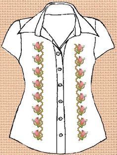 Заготовки для вишивки жіночих сорочки без рукавів (Більше 100 моделей) ce8c96f6abcbd