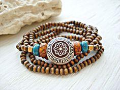 Yoga Bracelet  Yoga Jewelry  Boho Jewelry  Boho by HandcraftedYoga, $25.00