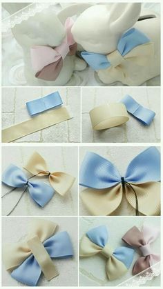 a pair of scissors and three strands of wide Stain Ribbon, you can handle this how to make hair bows plan rapidly.How to make Hair Bows - Free Hair Bow Tutorials Made the elephant for a friend and she loved it!DIY bow with simple instructions. Diy Ribbon, Ribbon Crafts, Ribbon Bows, Diy Crafts, Ribbons, Ribbon Flower, Burlap Bows, Diy Hair Bows, Making Hair Bows