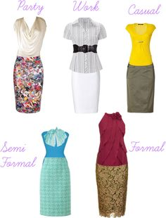 """""""Pencil Skirt Trend-Spring"""" by vinsmk ❤ liked on Polyvore"""