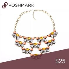 🆕Listing 🌼 Statement Necklace! NWT lovely statement necklace in gold with faux crystal stones. Adorable even more in person. ‼️Bundle & Save‼️ Thanks karen1177 Jewelry Necklaces