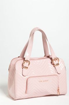 Pink Ted Baker London Quilted Patent Tote.