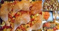 15 nejlepších receptů na rychlé obědy z jednoho pekáče | NejRecept.cz I Foods, Chicken Wings, Low Carb Recipes, Food And Drink, Menu, Snacks, Dishes, Ethnic Recipes, Stuffed Pepper
