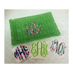 Just some fun items from this weekend! LOVE the green trays with the Lilly Pulitzer decal. I have 5 left for only $15! // How are y'all using your decals? Tag us in a pic! #ahadesigns #lillypulitzer #monograms #customdecals