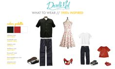 what to wear family photos - black and red