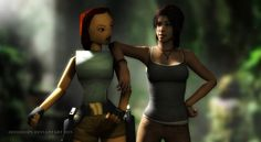 """tombraider: """"Fanart: """"Tomb Raider: Hey, Old Timer!"""" by Irishhips """" Funny Gaming Memes, Funny Games, Tomb Raider Lara Croft, Rise Of The Tomb, Celebration Quotes, Video Game Art, Underworld, Girls Be Like, Wonder Woman"""