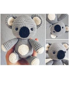 Crochet Animal Patterns, Stuffed Animal Patterns, Diy Stuffed Animals, Crochet Patterns Amigurumi, Crochet Animals, Crochet Baby Toys, Cute Crochet, Knitting Projects, Crochet Projects