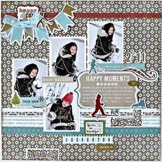 Happy moments scrapbook page layout - Scrapbook.com