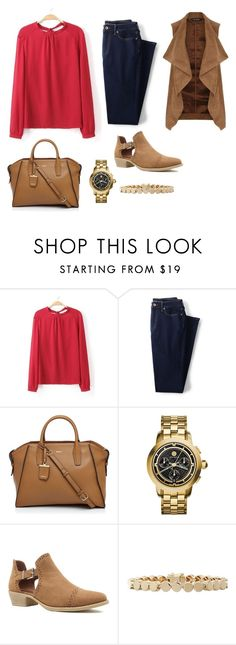 """Untitled #6908"" by beatrizibelo ❤ liked on Polyvore featuring Lands' End, DKNY, Tory Burch, Qupid, Eddie Borgo and Dorothy Perkins"